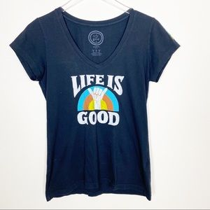 Life is good graphic tee